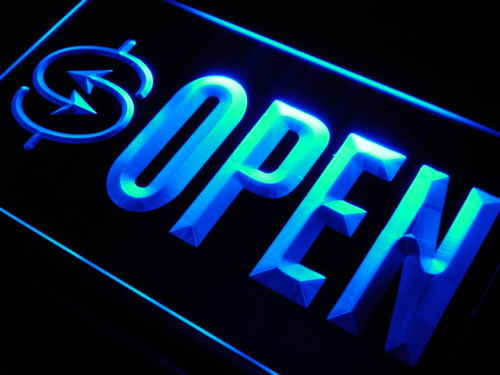 OPEN Money Exchange Shop Lure Neon Light Sign